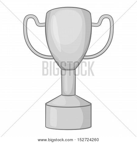 Championship cup icon. Gray monochrome illustration of championship cup vector icon for web