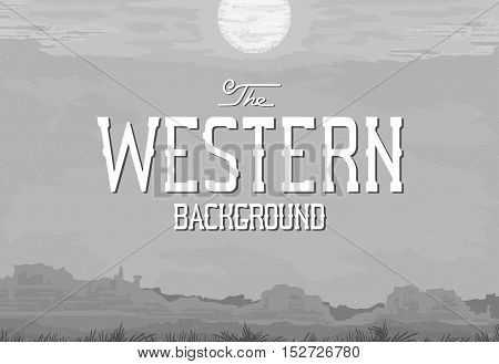 The landscape in the style of vintage Western movie