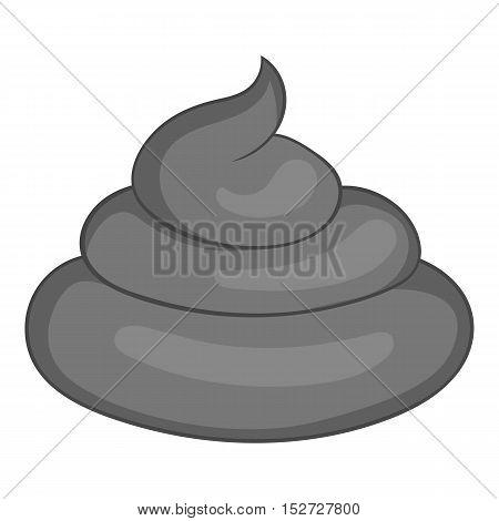 Turd icon. Gray monochrome illustration of turd vector icon for web