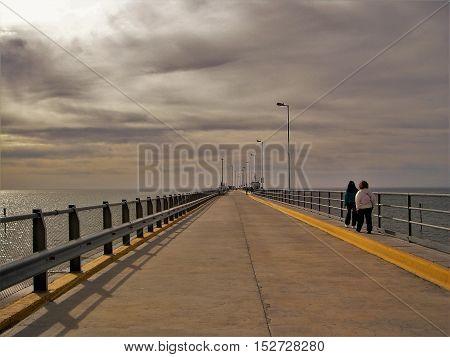Dock Port Madrin Chubut Argentina Atlantic Ocean