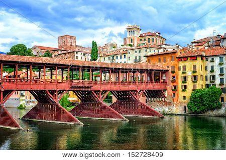 Ponte Degli Alpini Bridge, Bassano Del Grappa, Italy