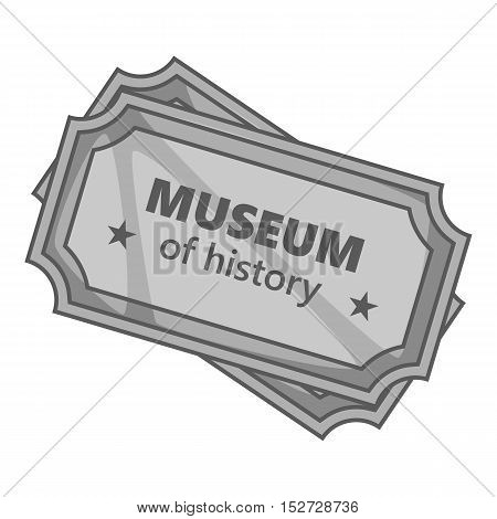 Sign museum of history icon. Gray monochrome illustration of sign museum of history vector icon for web
