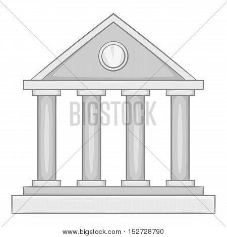 Roman colonnade icon. Gray monochrome illustration of roman colonnade vector icon for web