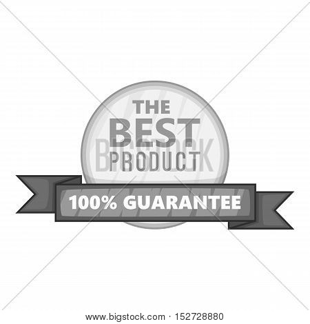 Tag best product icon. Gray monochrome illustration of tag best product vector icon for web