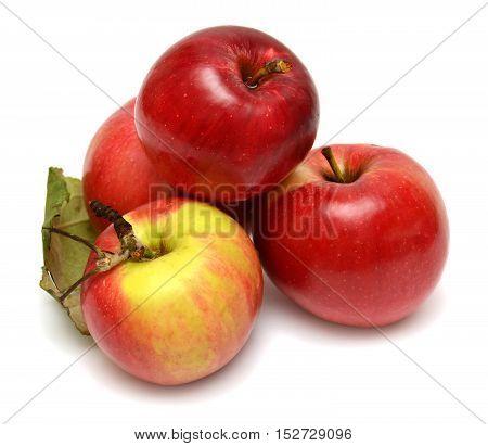 Red apple isolated on white background. Flat. Fruit.