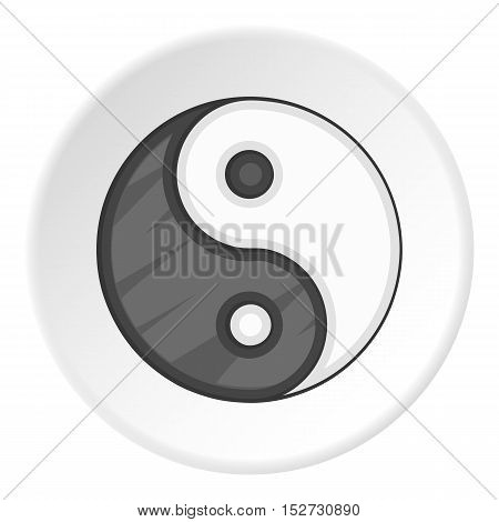 Yin Yang icon. Cartoon illustration of yin yang vector icon for web
