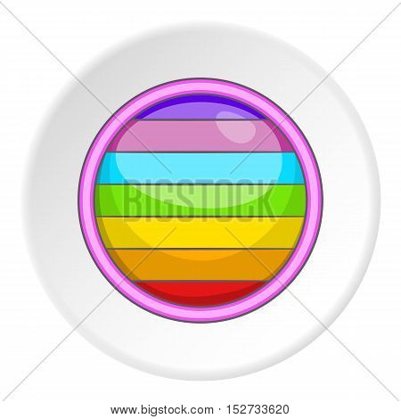 Circle in colours of LGBT icon. Cartoon illustration of circle in colours of LGBT vector icon for web