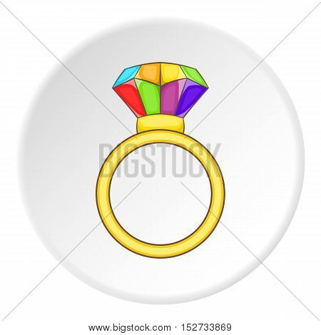 Ring LGBT icon. Cartoon illustration of ring LGBT vector icon for web