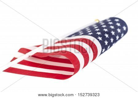 American flag isolated on white background .