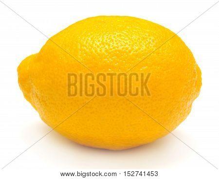 Lemon isolated on white background. Flat, fruit.