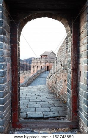 Great Wall Outside Door And The Door
