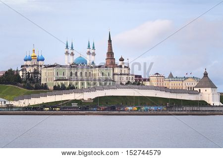 The magnificent Kremlin of Kazan (a Unesco World Heritage) with its church and mosque a symbol of coexistence among different religions.