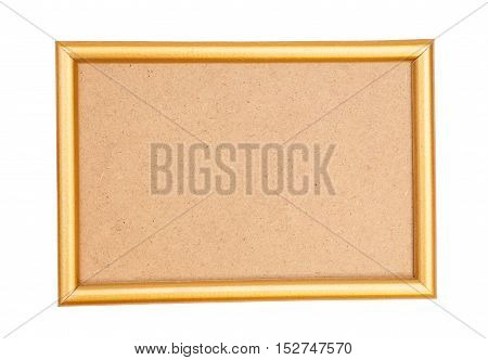 Golden frame isolated on a white background