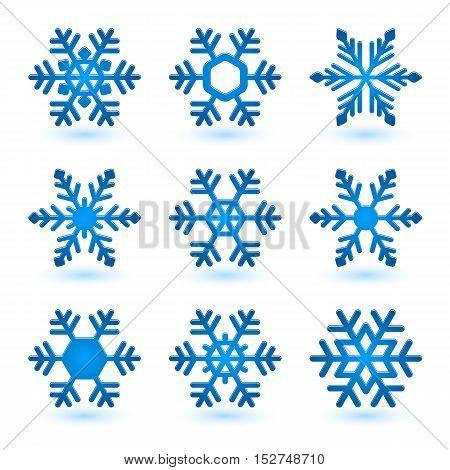 Vector Snowflakes.