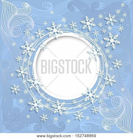 Vector Christmas Greeting Card.