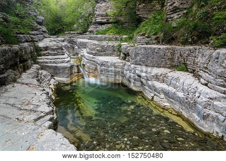 Rock formations near the village of Papingo in Epirus, Greece