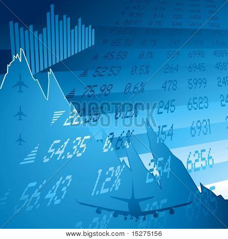 financial chart showing the credit crunch and stock figures