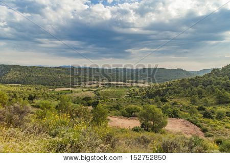 Landscape from Languedoc Roussillon province in France