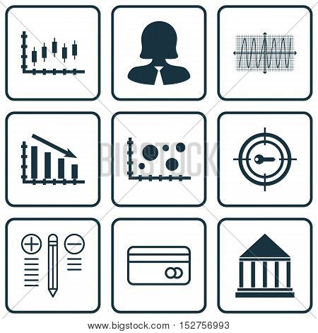 Set Of 9 Universal Editable Icons For Education, Human Resources And Project Management Topics. Incl
