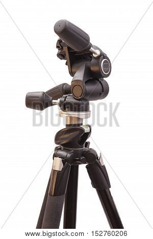 Black tripod isolated on a white background