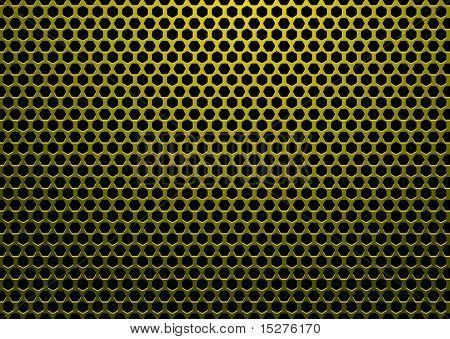 abstrakt mit Sechskant geformte Löcher und schwarzen Hintergrund