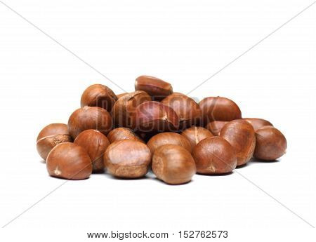 Sweet Roasted Chestnut isolated on white background