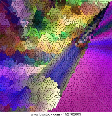 Abstract coloring background of the purples gradient with visual pagecurl,cubism and stained glass effects, good for your project design