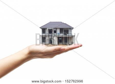Buying a house / Cheating done by Construction contractor concept