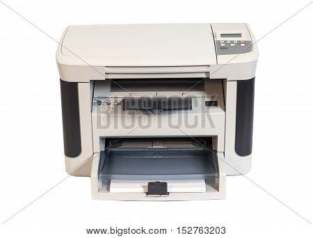 Desktop Printer isolated on a white background