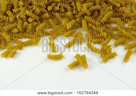 Vegetable Rotini pasta made with spinach and zucchini puree