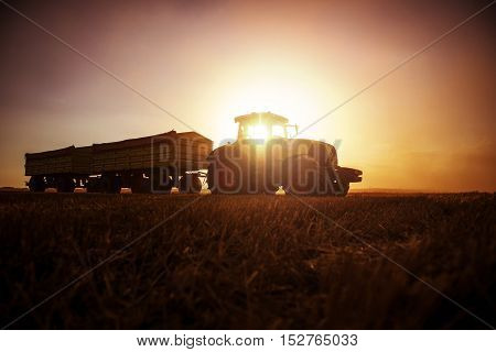 Tractor On The Country Side
