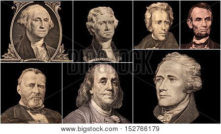Portrait Presidents Of The United States of America