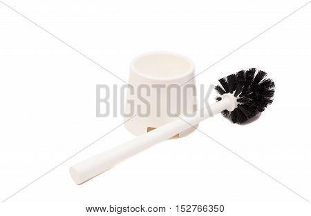 Toilet brush isolated on a white background