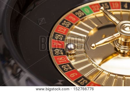 Roulette wheels in a casino. gambling concept