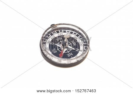 Compass orientation isolated on a white background