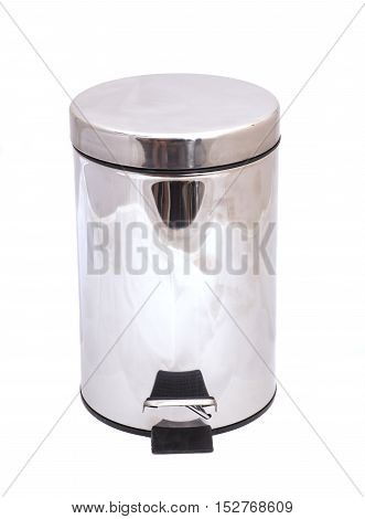 Garbage bin isolated on a white background