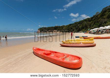 Tibau Do Sul, Rio Grande Do Norte, Brazil - October 16, 2016 - Madeiro Beach, Located In Pipa Distri