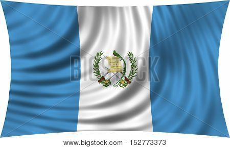 Guatemalan national official flag. Patriotic symbol banner element background. Correct colors. Flag of Guatemala waving isolated on white 3d illustration