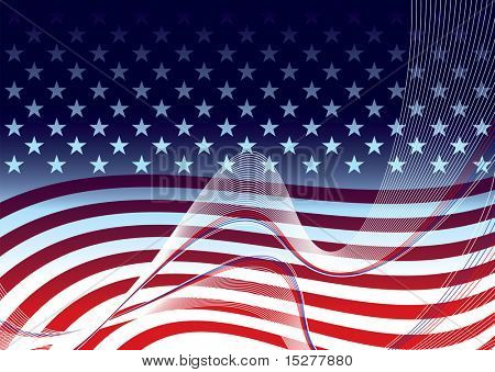American abstract stars and stripes background concept illustration
