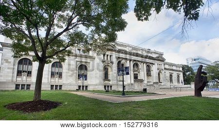 Washington DC.- Oct 4th 2016. Carnegie Library the old Washington DC Library.