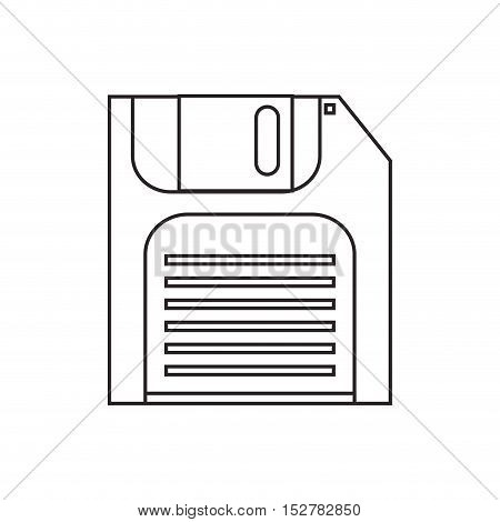 Diskette icon. Disk technology media data and information theme. Isolated design. Vector illustration