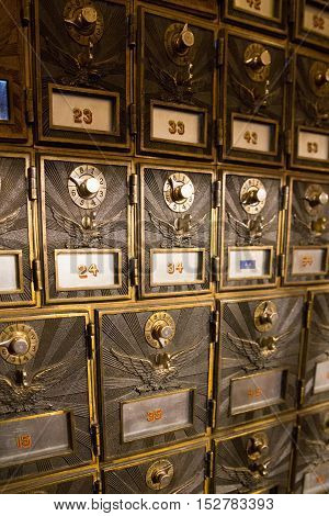Vintage Old Fashion Mailboxes located in the United States.