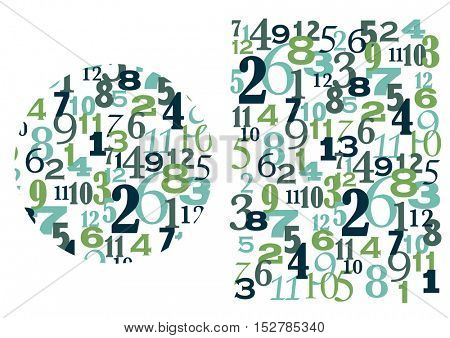Numbers Time and Math Concept