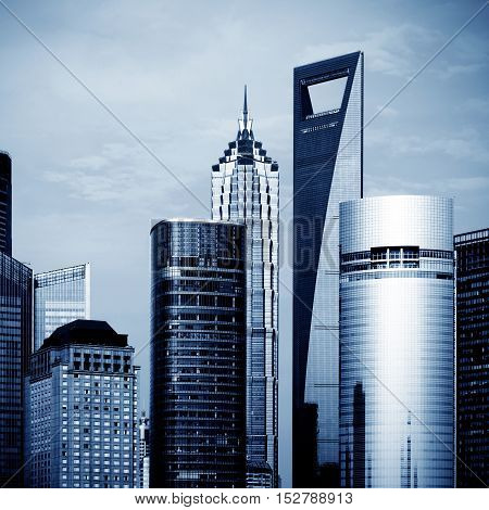 The office building in Lujiazui, Shanghai, China.