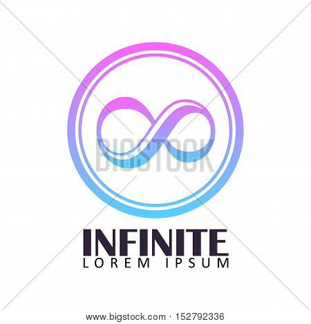 Infinite Logo or Icon Template with Gradation
