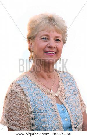 grandma, isolated on white.