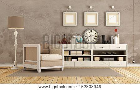 Brown Vintage Room