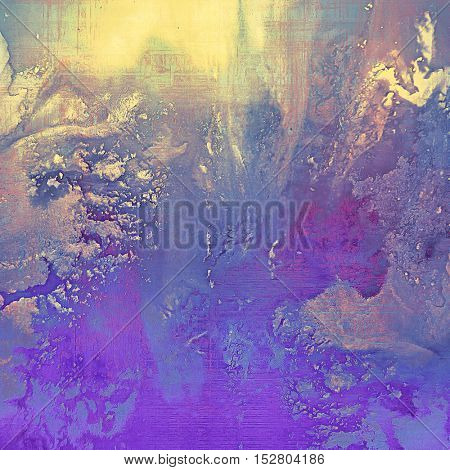 Grunge scratched background, abstract vintage style texture with different color patterns: yellow (beige); blue; purple (violet); pink; cyan