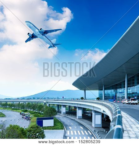 the scene of T3 airport building