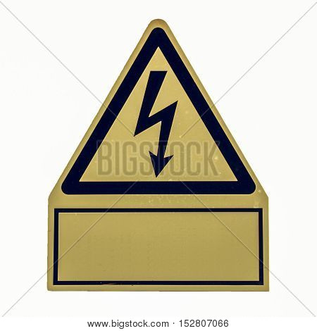 Vintage Looking Danger Of Death Electric Shock
